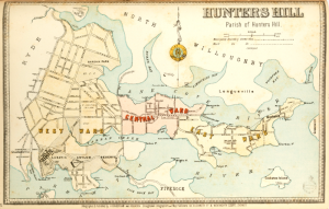 1890s Map of Hunters Hill