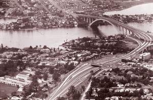 Aerial view New Gladesville Bridge