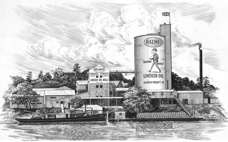 Harold Meggitt Limited mill 1946, Punt Road, Gladesville