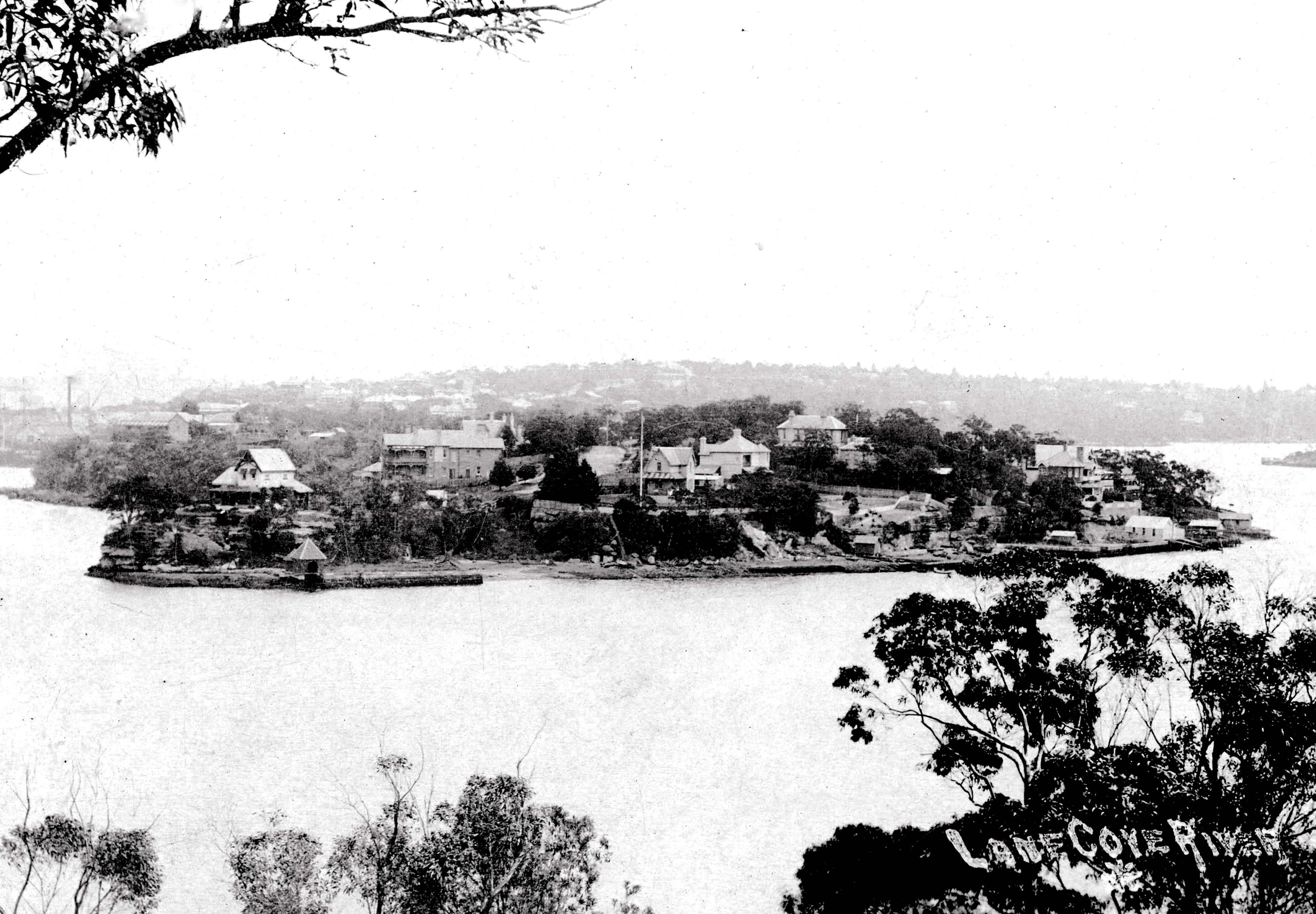 View of Clarke's Point from Greenwich c1895
