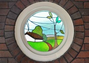 Leadlight window 20 Woolwich Road